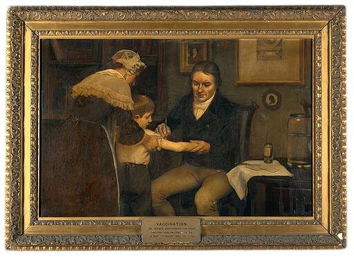 Cuadro dr Edward Jenner primera vacunación