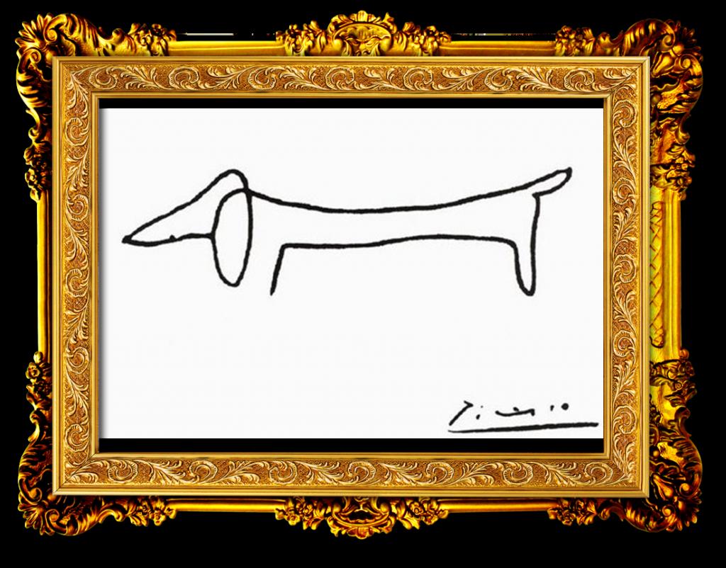 dibujo de dachshund por Pablo Picasso